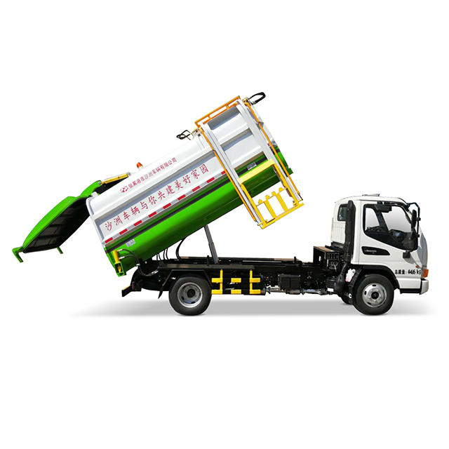 6 CBM hanging bucket compression garbage truck